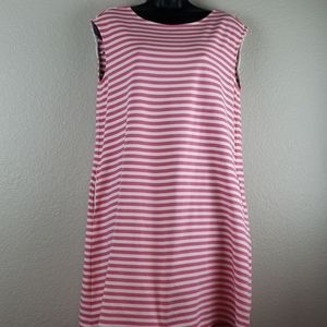 1901   Women's Tank Sleeveless Stripe Dress Sz L